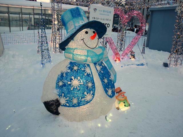 札幌雪祭りに来ています!